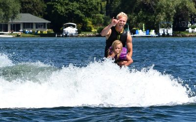 A Six Year Old Surfs at Clark Lake