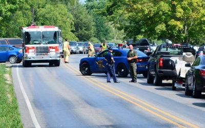 Accident on Jefferson Road Blocks Traffic