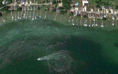 New Satellite Look at Clark Lake