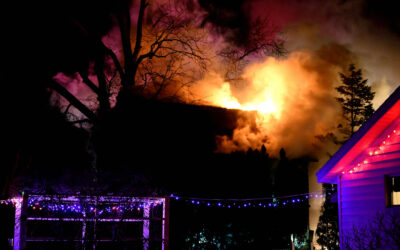 Fire Destroys House at Clark Lake