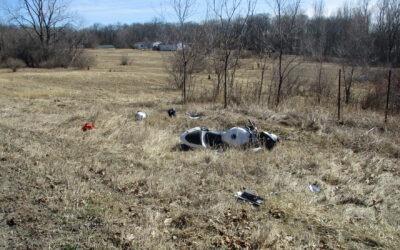 Motorcycle Crash on North Lake Road