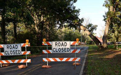 North Lake Road Blocked